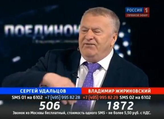 Поединок с Владимиром Соловьевым. 22.03.2012. Удальцов - Жириновский